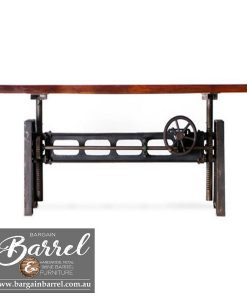 Bargain Barrel Wine Barrel Furniture Sales – Jett Crank Table Image 3